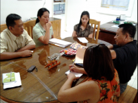 Interview with the finance people of Sibugay during the field visit of Mr. Espinar